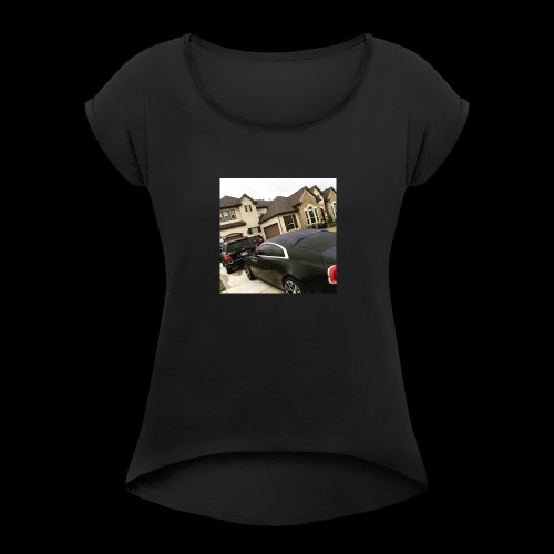 LargeLife.inc - Women's Roll Cuff T-Shirt