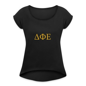 Good Ol Letters - Women's Roll Cuff T-Shirt