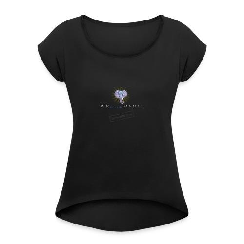 pro_logo_png_444444 - Women's Roll Cuff T-Shirt