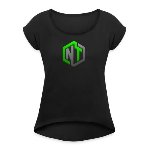 NayTendo GameCube Style Proffesional Logo - Women's Roll Cuff T-Shirt