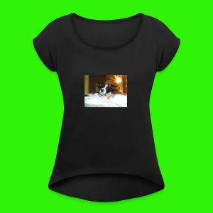 Sportswear (Eating Bone) - Women's Roll Cuff T-Shirt