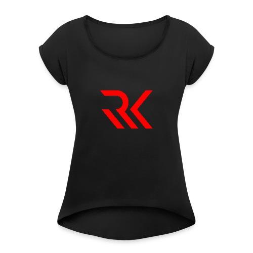 My logo - Women's Roll Cuff T-Shirt