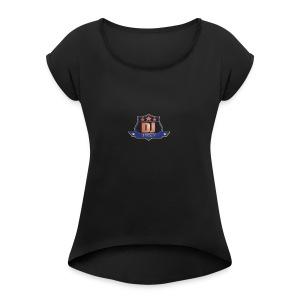 DJ_J_Soup_Blue - Women's Roll Cuff T-Shirt