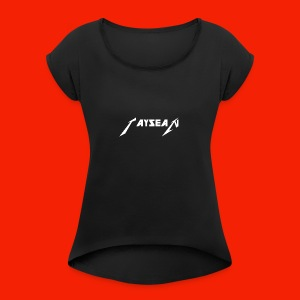 Taysean youth - Women's Roll Cuff T-Shirt