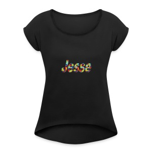 jesse no bg - Women's Roll Cuff T-Shirt
