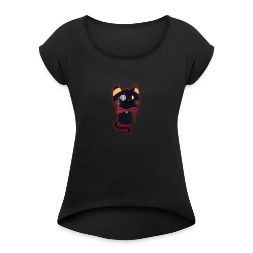 Dapper DefCat - Women's Roll Cuff T-Shirt