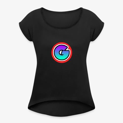 Galaxy Circle Logo - Women's Roll Cuff T-Shirt