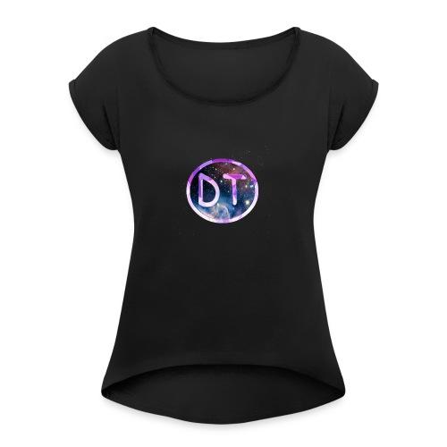 DanTCU's Logo - Women's Roll Cuff T-Shirt