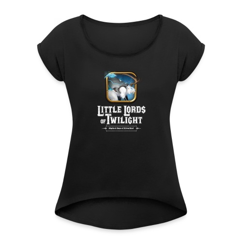 Little Lords of Twilight - White Beaver - Women's Roll Cuff T-Shirt