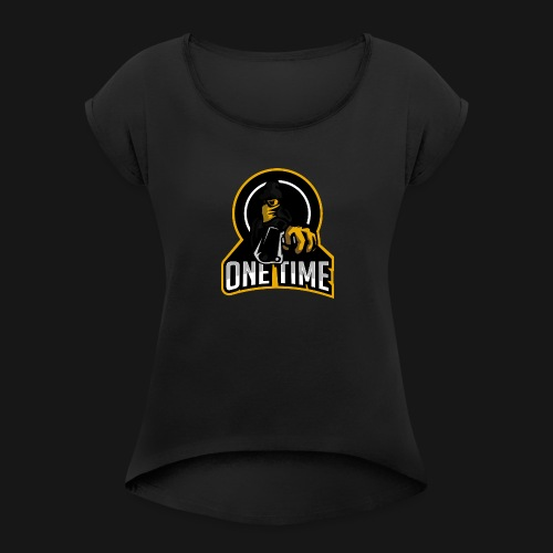 OneTime Gaming Logo - Women's Roll Cuff T-Shirt