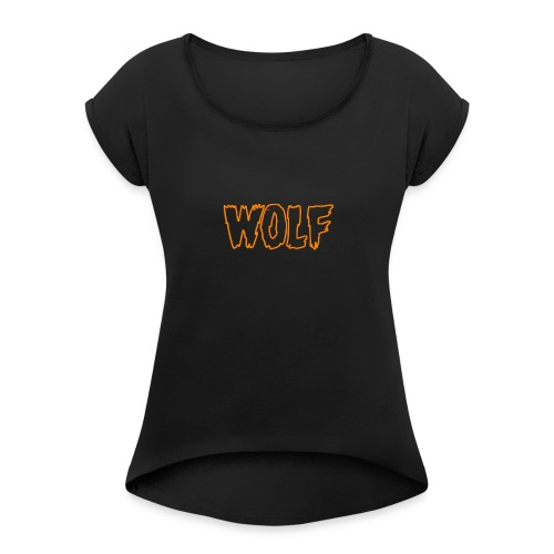 wolf - Women's Roll Cuff T-Shirt