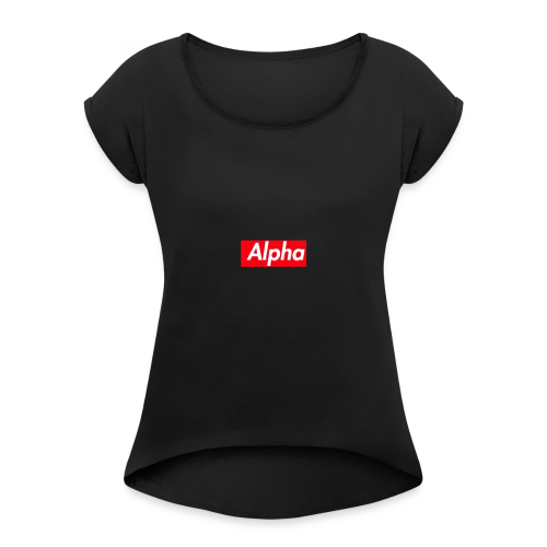Alpha Squad - Women's Roll Cuff T-Shirt