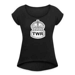 TWR (white crown) - Women's Roll Cuff T-Shirt