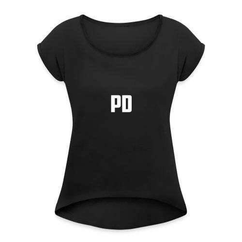 POWdrummer's Logo Shirt - Women's Roll Cuff T-Shirt