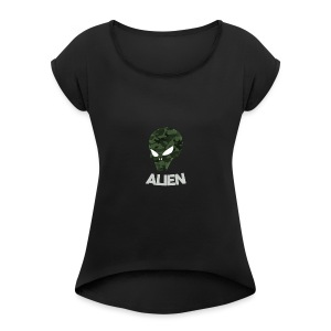 Military Alien - Women's Roll Cuff T-Shirt