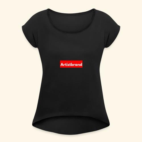 Artist Brand box logo - Women's Roll Cuff T-Shirt