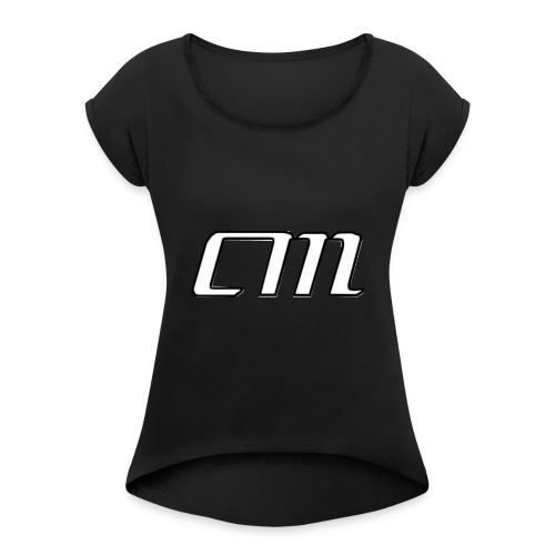 CM Logo - Women's Roll Cuff T-Shirt