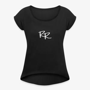 Raymond Rahner - LOGO2 White - Women's Roll Cuff T-Shirt