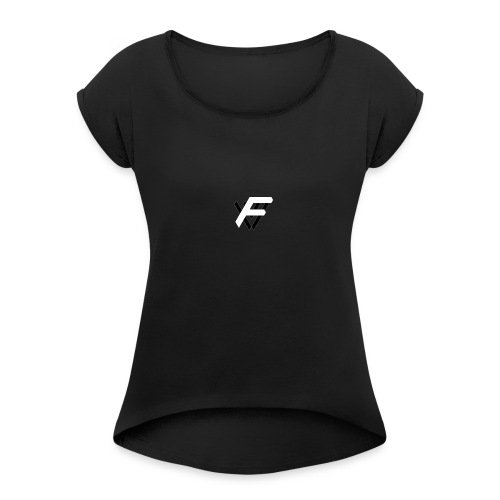 Fopey Vlogs FV logo - Women's Roll Cuff T-Shirt