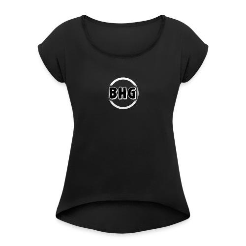 My YouTube logo with a transparent background - Women's Roll Cuff T-Shirt