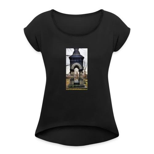 through the darkness - Women's Roll Cuff T-Shirt