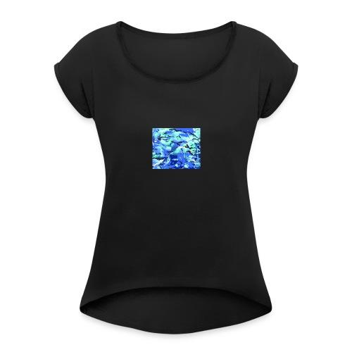 MTP Blue shop preview - Women's Roll Cuff T-Shirt