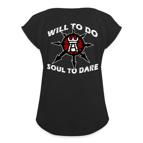 Task Force Havoc Logo and Motto - Women's Roll Cuff T-Shirt