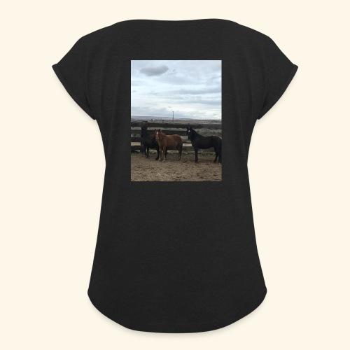 Support the Flintstone Family - Women's Roll Cuff T-Shirt