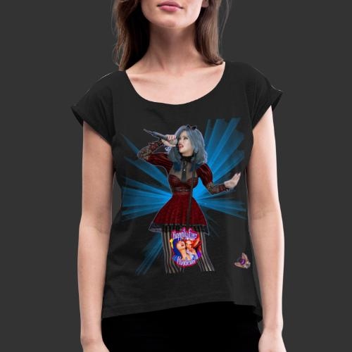 Happily Ever Undead: Alicia Abyss Singer - Women's Roll Cuff T-Shirt