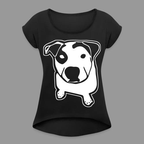 Pit Bull T-Bone - Women's Roll Cuff T-Shirt