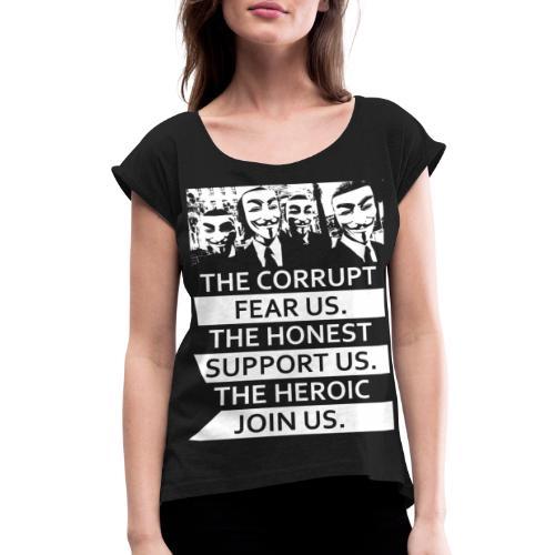 Anonymous 5 - Women's Roll Cuff T-Shirt