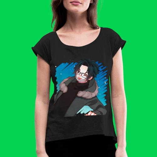 Mr no name guy. - Women's Roll Cuff T-Shirt