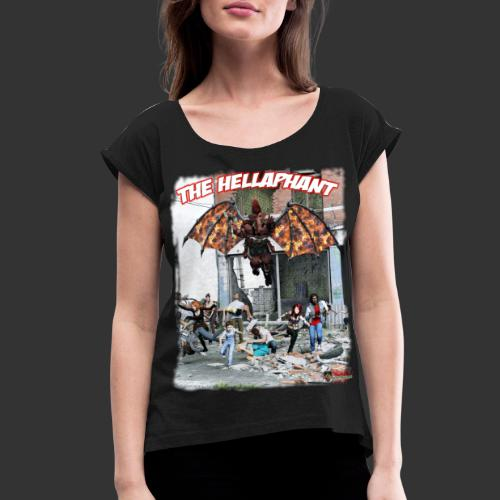 The Hellaphant Alternate Concept: Re-Issue - Women's Roll Cuff T-Shirt