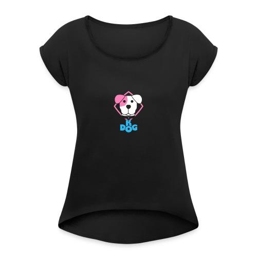 Puppy {clear backround} - Women's Roll Cuff T-Shirt