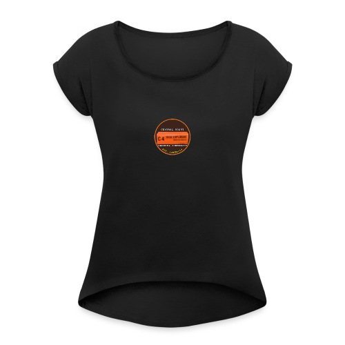 C4 2018 Logo - Women's Roll Cuff T-Shirt