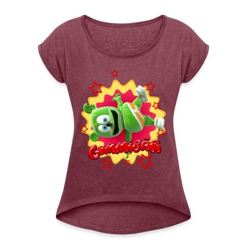 Gummibär Starburst - Women's Roll Cuff T-Shirt