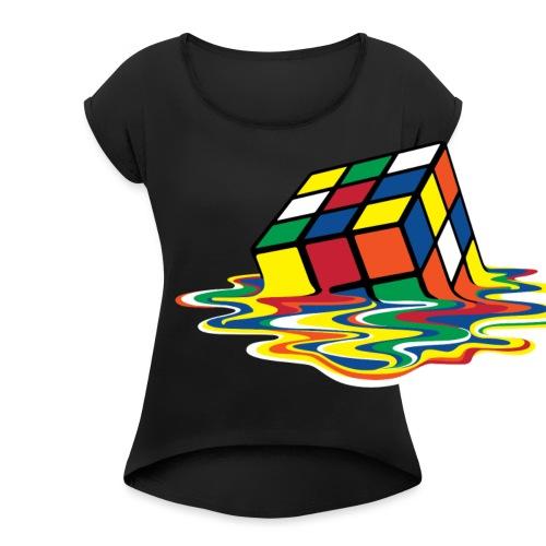 meltingcube - Women's Roll Cuff T-Shirt