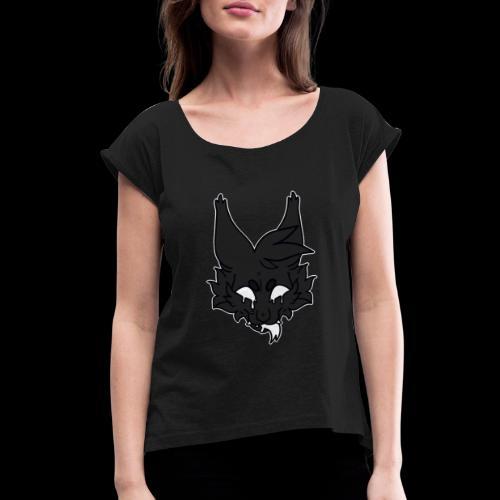 kitty candle-wax - Women's Roll Cuff T-Shirt