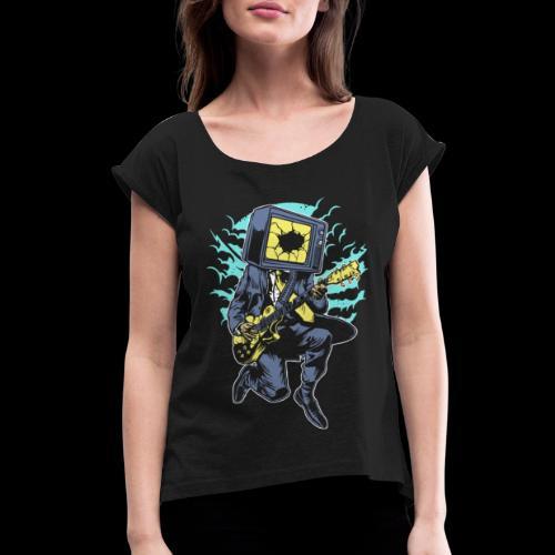 Played Out TV Rockstar - Women's Roll Cuff T-Shirt