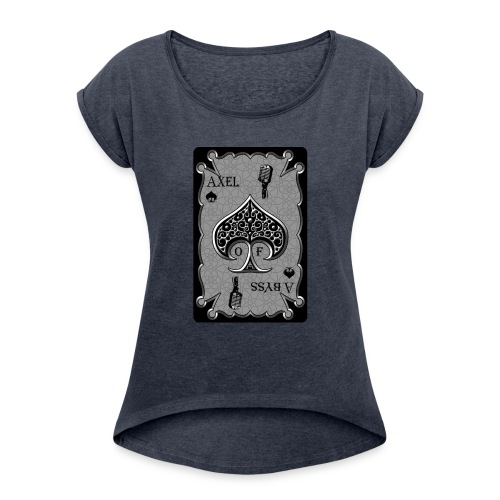 Axelofabyss Spade Card - Women's Roll Cuff T-Shirt