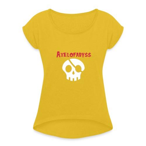 Skull pirate - Women's Roll Cuff T-Shirt