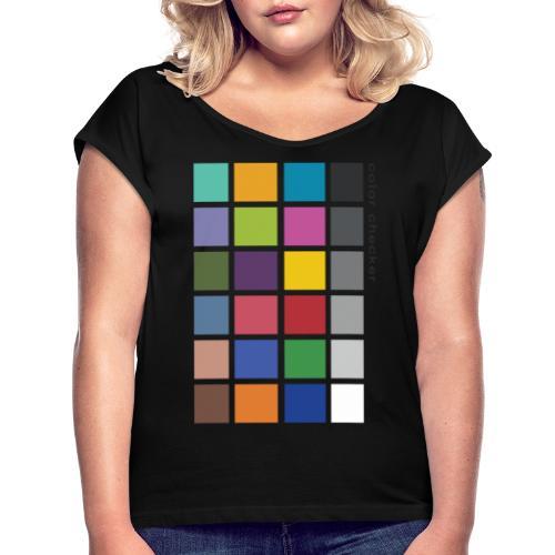 Photographer's Color Checker tee - Women's Roll Cuff T-Shirt