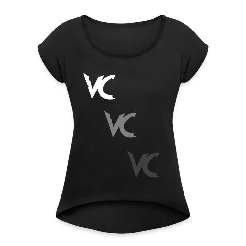 V3L0C1TY Logo Mugs & Drinkware - Women's Roll Cuff T-Shirt