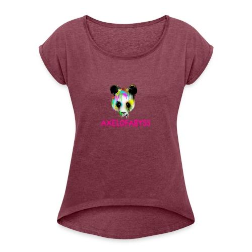 Axelofabyss panda panda paint - Women's Roll Cuff T-Shirt