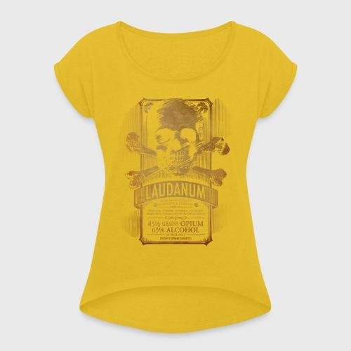Laudanum Goth Steampunk Medical Doctor - Women's Roll Cuff T-Shirt