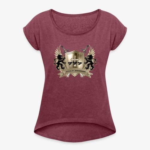 HOLY SPIRIT GOLD SHIELD - Women's Roll Cuff T-Shirt