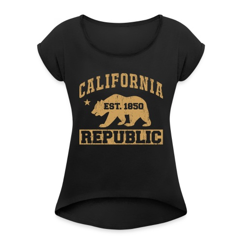 California Republic - Women's Roll Cuff T-Shirt