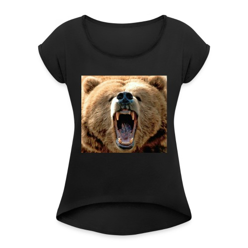 fLaRe BeArZ custom shirt (me - Women's Roll Cuff T-Shirt