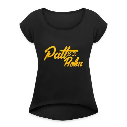 Patt Rohn 2036 Golden - Women's Roll Cuff T-Shirt