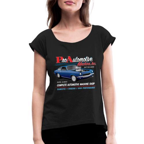 ProAutoTeeDesign062317fin - Women's Roll Cuff T-Shirt